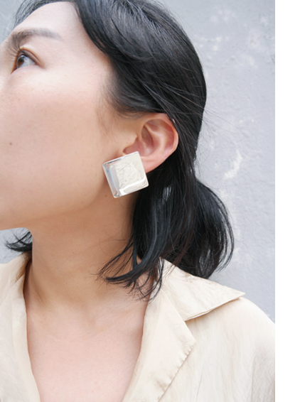 square clip earrings *